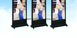 Floor Stand LED Light Box with Wheels for Shopping Mall Advertising pictures & photos