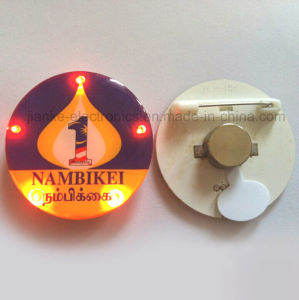 Hot Sell LED Flashing Pin Button with Logo Printed (3569)