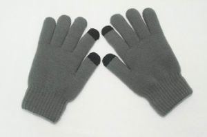 Soft Mens Screen Touch Knitting Gloves