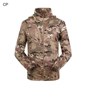 Camouflage Sun Protection Clothing Fast Drying Suit Skin Ultra-Thin Breathable Windbreaker Outdoor Military Fans pictures & photos