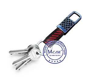 Bulk Carbon Fiber Leather Cow Key Chain Wholesale pictures & photos