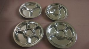 Stainless Steel Round Snack Tray with Different Lattices