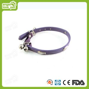 High Quality Leather with Samll Bells Pet Collar, PU Pet Collar pictures & photos