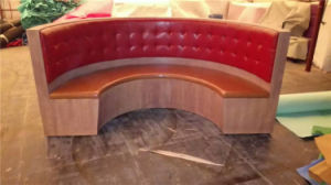 High End Red Circled Sofa Booth for Cafe Furniture Foh-Ck18 pictures & photos
