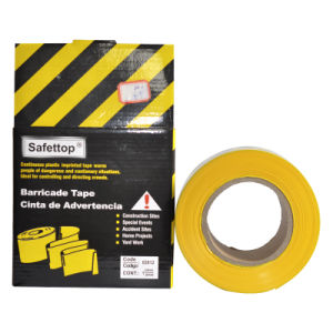 Yellow Warning Barrier Tape with Printing Text pictures & photos