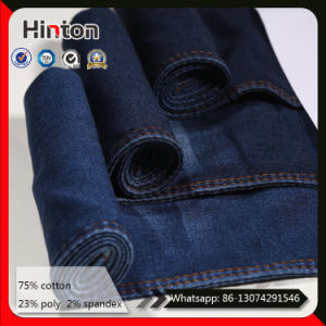 Dark Blue 10oz Stretch Denim Jeans Fabric for Pants pictures & photos