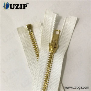 Clothing Accessories Brass Zippers Wholesale / White Zipper / Zipper Teeth Separated