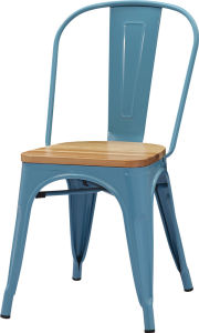 Metal Frame Wood Seat Restaruant Dining Chair pictures & photos