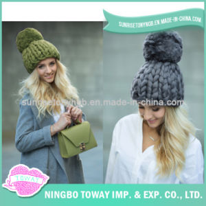 Soft Warm Hand Knitted Crocheted Winter Fashion Hat pictures & photos