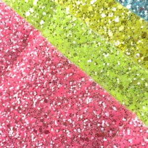 Glitter PU Leather for Kids Shoes Upper Making Hw-6432 pictures & photos