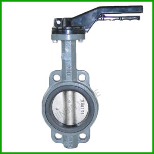 Grey Iron Resilient Seat Wafer Butterfly Valve