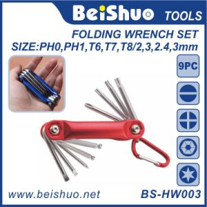 9 Pieces Multi Function Folding Wrench Key Set