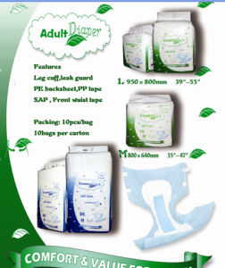 Disposable Adult Diaper for Adult Incontinence pictures & photos