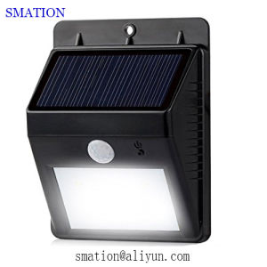 Powered Rechargeable Battery Outdoor Outside Wall Motion LED Solar Lights pictures & photos