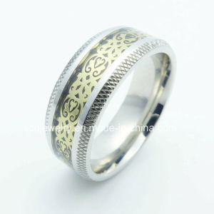 Fashion Stainless Steel Carbon Fiber Jewelry Ring