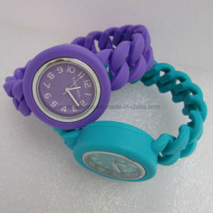 Promotion Fashion Ladies Silicone Twist Watch pictures & photos
