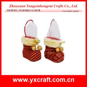 Christmas Decoration (ZY16Y022-1-2 14CM) Christmas Item Boot Wholesale Christmas Socks pictures & photos