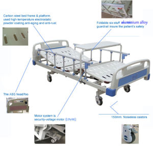 China Manufacturer Function Electric Hospital Furniture Medical ICU Bed pictures & photos