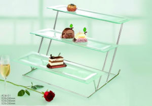 3 Layer Glass Craft for Buffet Display (A24-01) pictures & photos