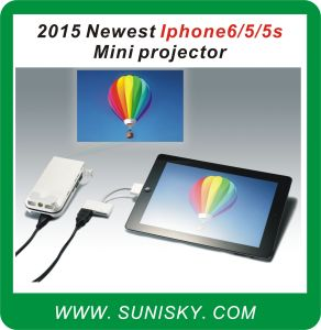 Smpi6 Newest for 6 / 5 / 5 S Mini Pocket Projector pictures & photos
