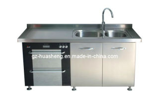 Metal Kitchen Cabinet for Modern Kitchen (HS-040) pictures & photos
