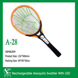 Rechargeable Mosquito Swatter with LED Light