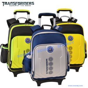 Transformer Trolly Backpack with Reflective Printing on Shoulder Strap