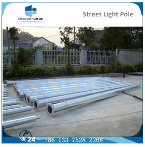 8m/9m/10m Hot-DIP Galvanized Double Arm DC Solar Street Lamp Pole pictures & photos