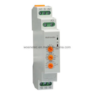 DIN-Rail Mounting Modular Type Multifunction Adjustable Time Relay (10functions) , 12-240VAC/DC pictures & photos