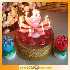 China Rotating Lotus Music Birthday Candle