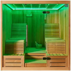 Monalisa Luxury Two Lounges Sexy LED Dry Sauna Room (M-6050) pictures & photos
