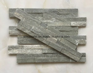 10*40cm Slim Green Slate Stone Veneer (HHSC10X40-001) pictures & photos