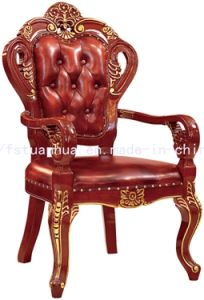 Luxurious Hand Carving American Dining Wood Chair (CT-309)