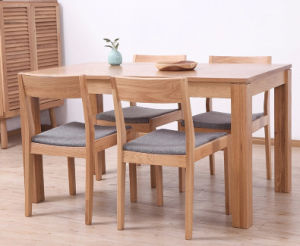 Oak Wood Dining Set One Table with Two Chairs and One Bench (M-X1094) pictures & photos