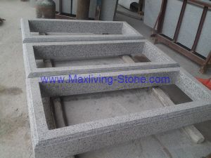 Frame Shape Tombstone/Grey Granite Tombstone