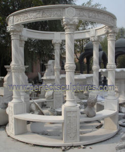 Garden Gazebo with Stone Marble Granite Sandstone Limestone (GR066) pictures & photos