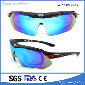 Sports Interchangeable Lens Glasses Casual Cycling Sunglasses pictures & photos