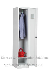 2 Door Steel Wardrobe with Shelf & Rod
