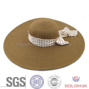 Woman Summer Paper Beach Hat (GKA03-B00005) pictures & photos