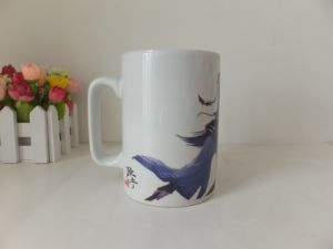 350ml Ceramic Straight Promotional Coffee Mug with Decal Printing (WSY931M)