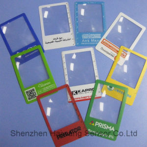 Factory Price Credit Card Size Magnifier (HW-803) PVC Magnifier Lens Card pictures & photos