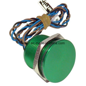 19mm Flat Head Non Illuminated Green Latching Piezo Switch IP68 pictures & photos