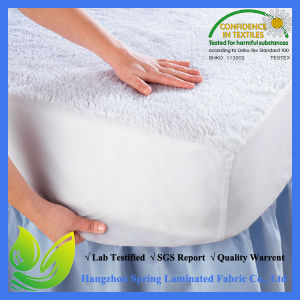 White Terry Machine Washable Hypoallergenic Anti-Dustmite Waterproof Mattress Cover Fits Mattress pictures & photos
