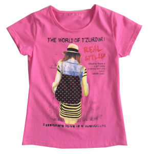 Fashion Girl Children′s T-Shirt in Kids Clothes Sgt-076