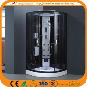 Black Frame Low Tray Steam Shower Cabin (ADL-8904)