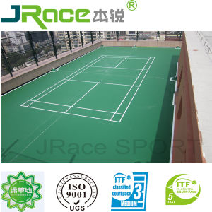 China Synthetic Outdoor Badminton Court Surface China Badminton