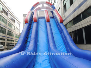 EN 14960 deep inflatable water slide inflatable bouncer slide with pool for kids and adults pictures & photos