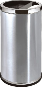Cylindrical Stainless Steel Open Top Ground Ash Barrel (GPX-110A) pictures & photos