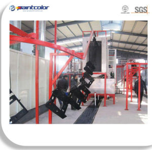 Automatic Electrostatic Powder Coating Line for Metal Parts pictures & photos