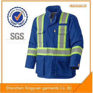 bef8eb935d203 China Royal Blue 100 Cotton Flame-Retardant Winter Jacket with Reflector -  China Flame-Retardant Jacket, Fire Proof Jacket